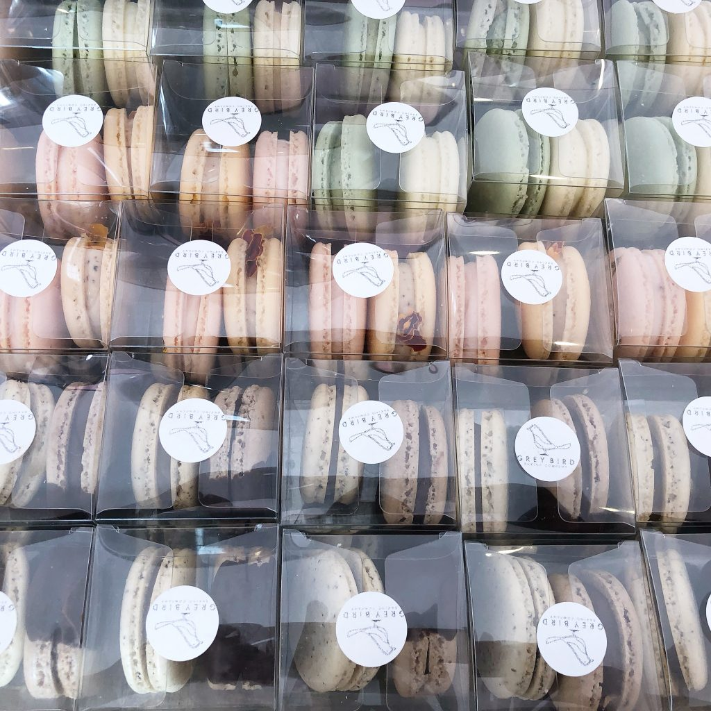 Grey Bird Packs of Macaroons
